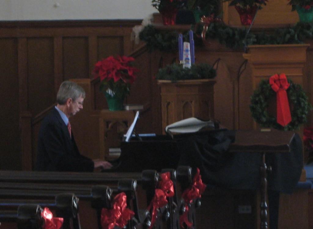 Bob at the piano