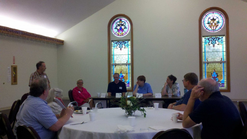 Pastor Mitch introduced the team from First Presbyterian, Winchester.