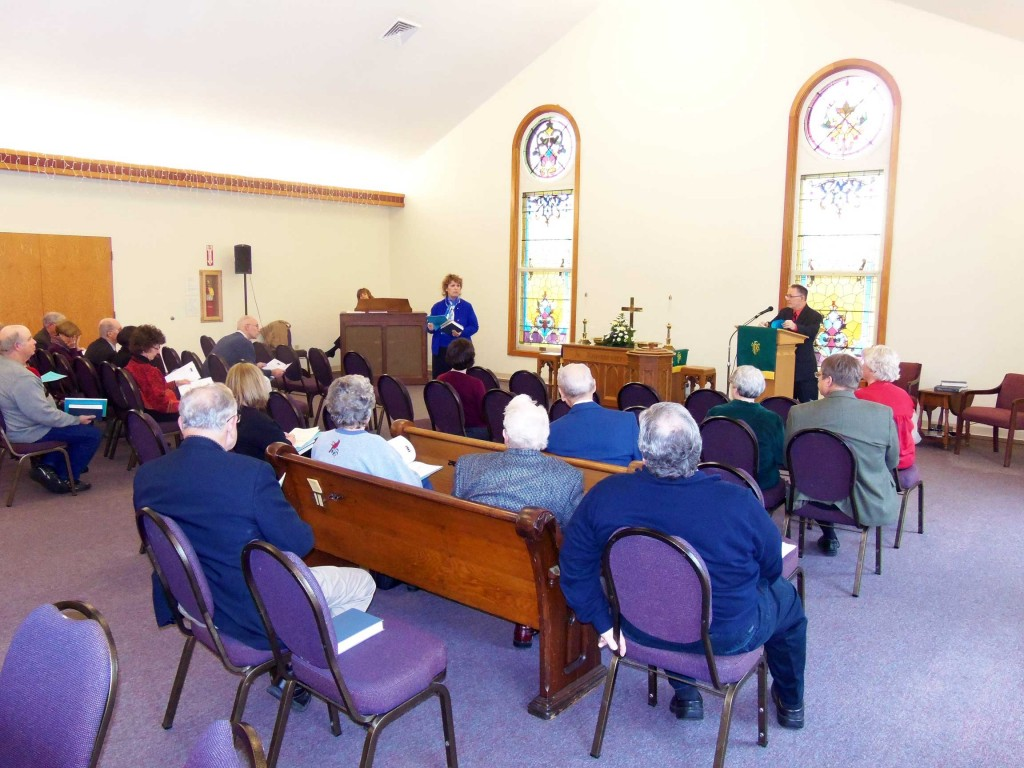 We held a congregational meeting after worship to receive annual reports.